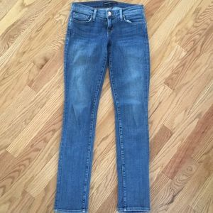 J Brand For Theory Low Rise Skinny Jeans